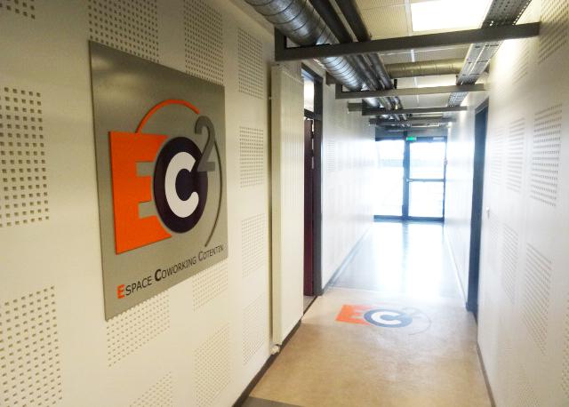 Signalétique et décoration Espace Coworking