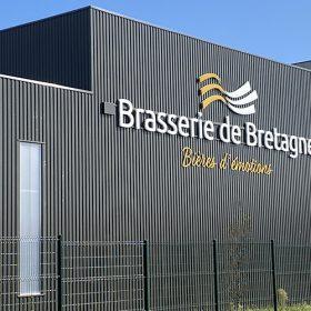 Enseignes lumineuses à LED de la Brasserie de Bretagne
