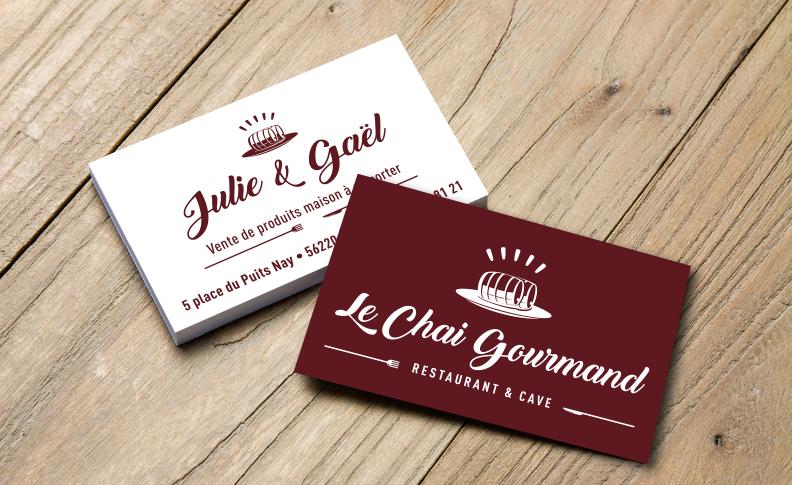 Identité visuelle - Image de marque Le Chai Gourmand