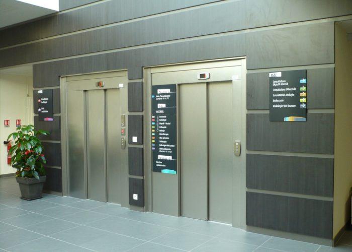 Signalétique de la Polyclinique Panneau Ascenseur