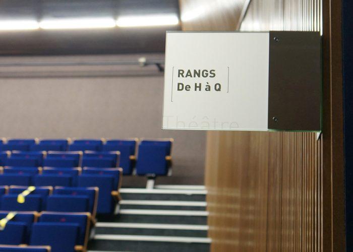Signalétique du théâtre - Drapeau d'identification Marcal