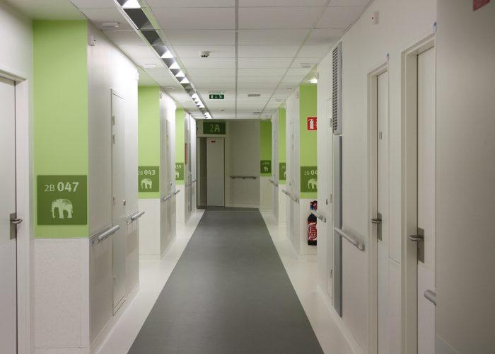 Signalétique du centre hospitalier - Plaque de chambre
