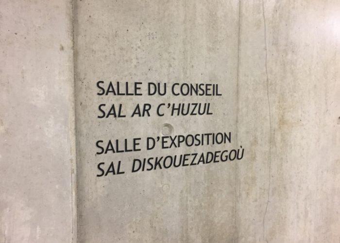 Maison de l'Agglomération - Signalétique sur mur