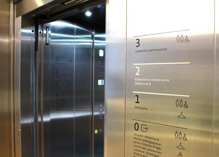 Signaletique Ascenseur Musee Pont Aven