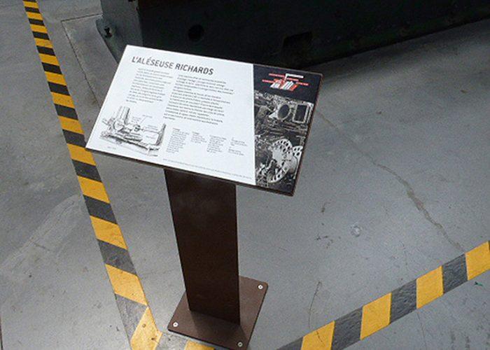 Pupitre muséographie navale capucins Brest
